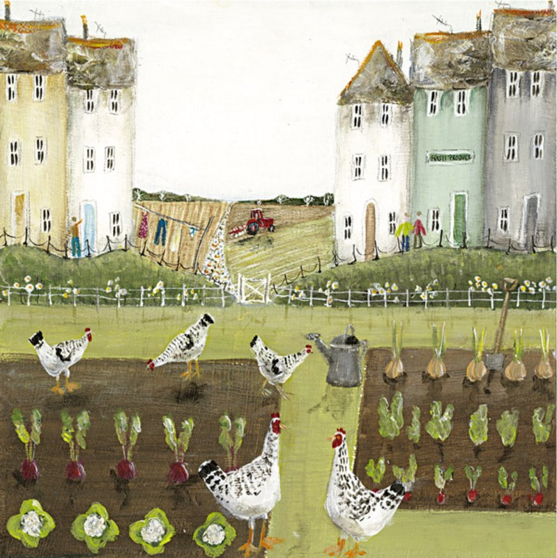 Hen Party  by Rebecca Lardner - Limited Edition on Canvas sized 14x14 inches. Available from Whitewall Galleries
